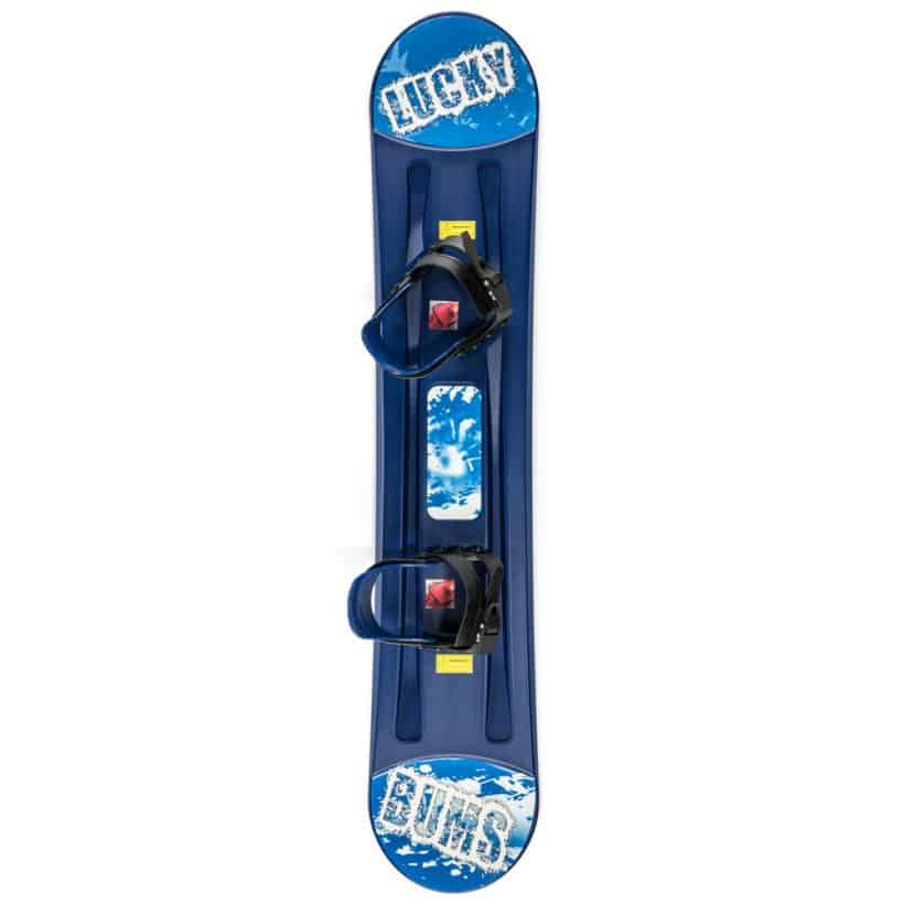 lucky bums plastic snowboard
