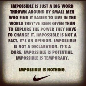 impossible is nothing nike quote