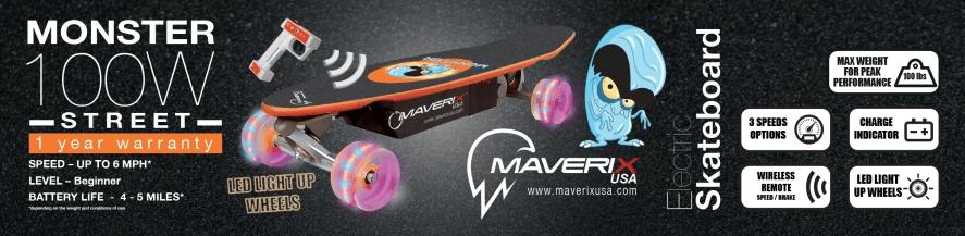 Kids Electric Skateboard Maverix Monster