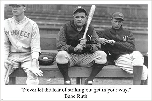 Motivational sports poster babe ruth