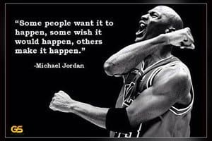 Motivational sports poster michael jordan