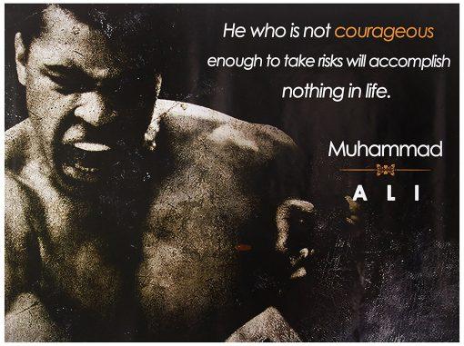Motivational sports poster mohammad ali