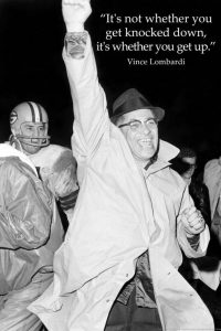 Motivational sports poster vince lombardi