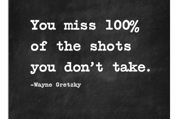 Motivational sports poster wayne gretzky