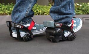 razor turbo jets electric skates in action