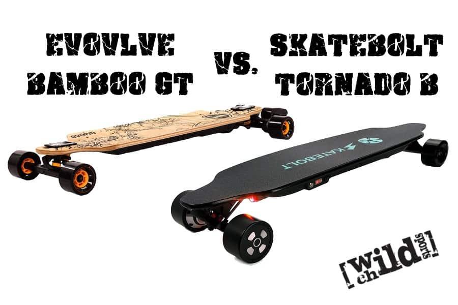 Evolve Skateboards Bamboo GT vs. Skatebolt Tornado B Comparison Review