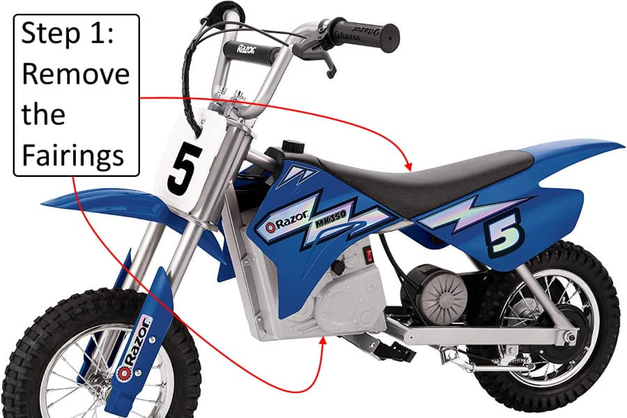 How to replace the battery on a Razor MX350 Dirt Rocket in 4 easy steps