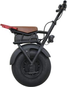 one wheel electric scooter - self balancing electric unicycle - side view